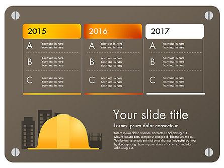 Construction Infographics Presentation Template, Slide 3, 03059, Presentation Templates — PoweredTemplate.com