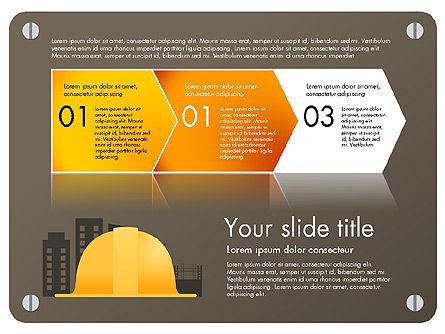 Construction Infographics Presentation Template, Slide 4, 03059, Presentation Templates — PoweredTemplate.com