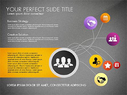 Social Spaghetti Chart, Slide 11, 03063, Presentation Templates — PoweredTemplate.com