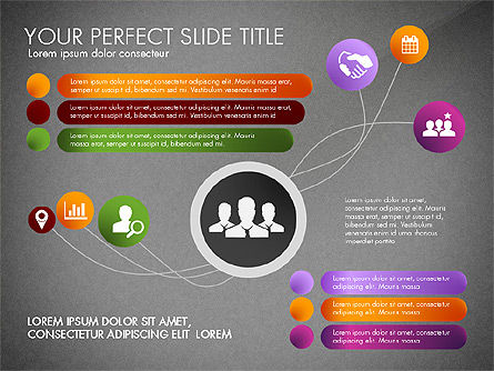 Social Spaghetti Chart, Slide 13, 03063, Presentation Templates — PoweredTemplate.com