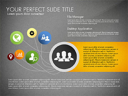 Social Spaghetti Chart, Slide 14, 03063, Presentation Templates — PoweredTemplate.com
