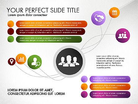 Social Spaghetti Chart, Slide 5, 03063, Presentation Templates — PoweredTemplate.com