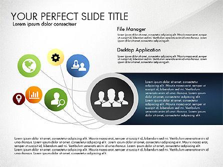 Social Spaghetti Chart, Slide 6, 03063, Presentation Templates — PoweredTemplate.com