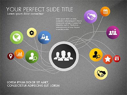 Social Spaghetti Chart, Slide 9, 03063, Presentation Templates — PoweredTemplate.com