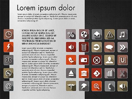 Flat Icons Deck, Slide 11, 03064, Icons — PoweredTemplate.com