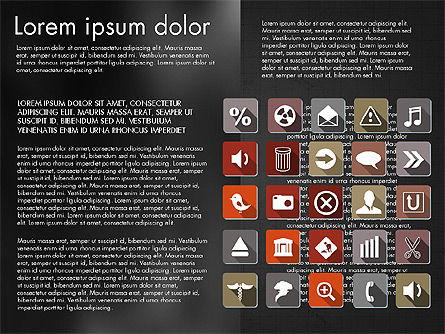 Flat Icons Deck, Slide 13, 03064, Icons — PoweredTemplate.com