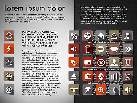 Flat Icons Deck, Slide 16, 03064, Icons — PoweredTemplate.com