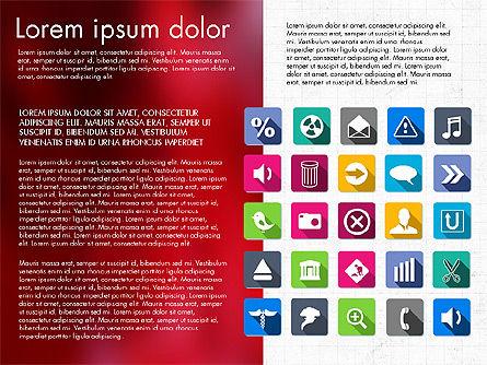 Flat Icons Deck, Slide 5, 03064, Icons — PoweredTemplate.com