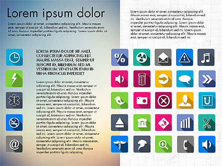 Flat Icons Deck, Slide 8, 03064, Icons — PoweredTemplate.com