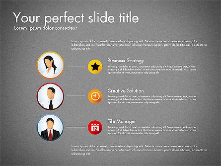 Process Presentation Template with Flat Shapes, Slide 10, 03065, Process Diagrams — PoweredTemplate.com