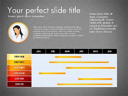 Process Presentation Template with Flat Shapes, Slide 12, 03065, Process Diagrams — PoweredTemplate.com