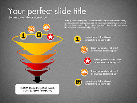 Process Presentation Template with Flat Shapes, Slide 13, 03065, Process Diagrams — PoweredTemplate.com