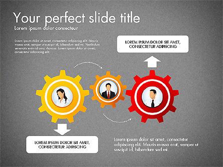 Process Presentation Template with Flat Shapes, Slide 14, 03065, Process Diagrams — PoweredTemplate.com