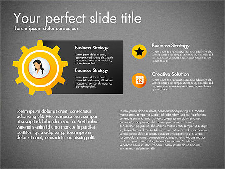 Process Presentation Template with Flat Shapes, Slide 15, 03065, Process Diagrams — PoweredTemplate.com
