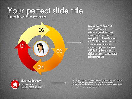 Process Presentation Template with Flat Shapes, Slide 16, 03065, Process Diagrams — PoweredTemplate.com