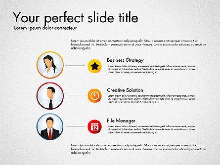 Process Presentation Template with Flat Shapes, Slide 2, 03065, Process Diagrams — PoweredTemplate.com