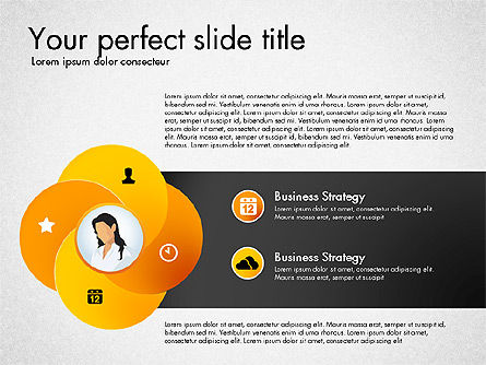 Process Presentation Template with Flat Shapes, Slide 3, 03065, Process Diagrams — PoweredTemplate.com