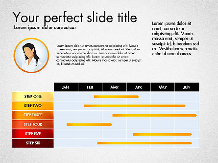 Process Presentation Template with Flat Shapes, Slide 4, 03065, Process Diagrams — PoweredTemplate.com