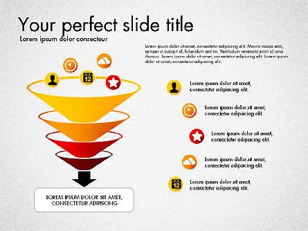 Process Presentation Template with Flat Shapes, Slide 5, 03065, Process Diagrams — PoweredTemplate.com