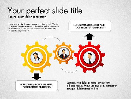 Process Presentation Template with Flat Shapes, Slide 6, 03065, Process Diagrams — PoweredTemplate.com