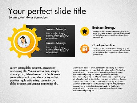 Process Presentation Template with Flat Shapes, Slide 7, 03065, Process Diagrams — PoweredTemplate.com
