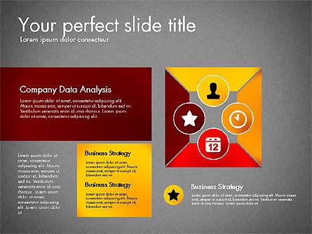 Process Presentation Template with Flat Shapes, Slide 9, 03065, Process Diagrams — PoweredTemplate.com