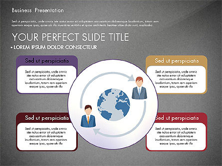 Presentation with Flat Design Shapes and Diagrams, Slide 10, 03066, Presentation Templates — PoweredTemplate.com