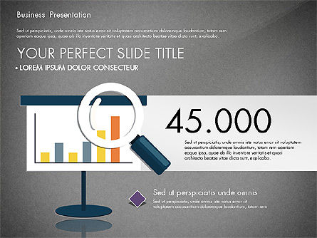 Presentation with Flat Design Shapes and Diagrams, Slide 11, 03066, Presentation Templates — PoweredTemplate.com