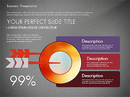 Presentation with Flat Design Shapes and Diagrams, Slide 13, 03066, Presentation Templates — PoweredTemplate.com