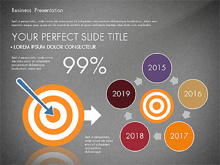 Presentation with Flat Design Shapes and Diagrams, Slide 16, 03066, Presentation Templates — PoweredTemplate.com