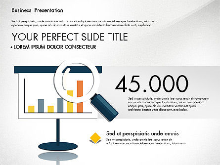 Presentation with Flat Design Shapes and Diagrams, Slide 3, 03066, Presentation Templates — PoweredTemplate.com