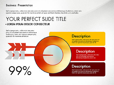 Presentation with Flat Design Shapes and Diagrams, Slide 5, 03066, Presentation Templates — PoweredTemplate.com