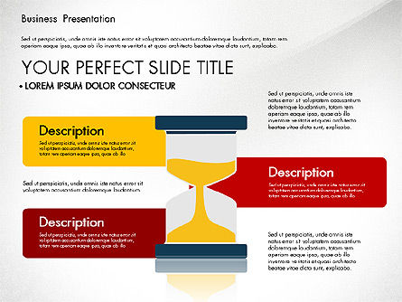 Presentation with Flat Design Shapes and Diagrams, Slide 6, 03066, Presentation Templates — PoweredTemplate.com