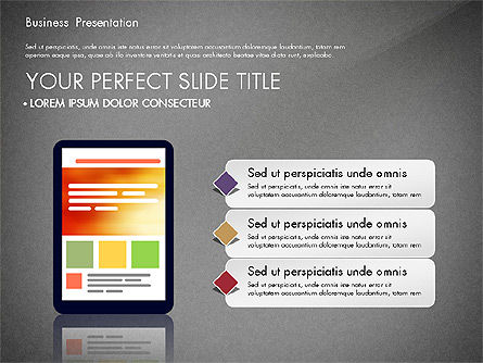 Presentation with Flat Design Shapes and Diagrams, Slide 9, 03066, Presentation Templates — PoweredTemplate.com