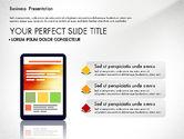 Presentation Templates: Presentatie met vlakke vorm vormen en diagrammen #03066
