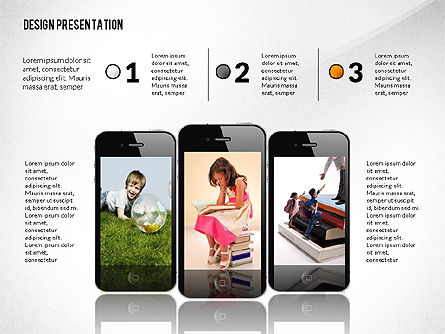 Educational Gadgets Presentation Template, Slide 4, 03070, Education Charts and Diagrams — PoweredTemplate.com