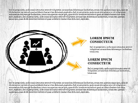 Process Presentation with Business Silhouette Shapes, Slide 2, 03071, Process Diagrams — PoweredTemplate.com