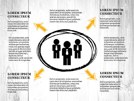 Process Presentation with Business Silhouette Shapes, Slide 4, 03071, Process Diagrams — PoweredTemplate.com