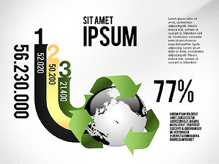 Environmental Sustainability Infographics Options, Slide 8, 03073, Infographics — PoweredTemplate.com