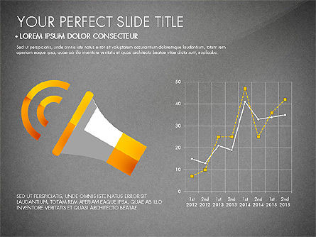 Marketing Presentation in Flat Design, Slide 11, 03076, Presentation Templates — PoweredTemplate.com