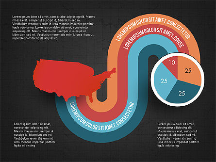 Word Map Options and Pie Chart, Slide 16, 03077, Pie Charts — PoweredTemplate.com