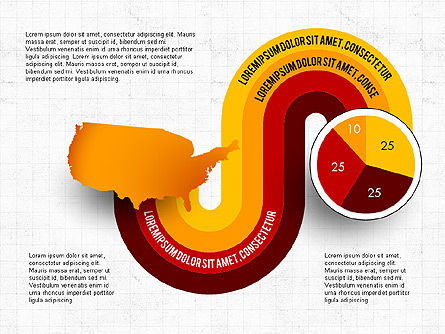 Word Map Options and Pie Chart, Slide 8, 03077, Pie Charts — PoweredTemplate.com