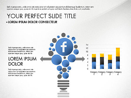 facebook data driven presentation for powerpoint presentations, Modern powerpoint