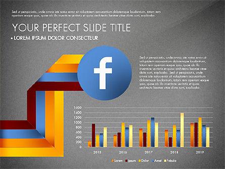 Facebook Data Driven Presentation, Slide 10, 03081, Presentation Templates — PoweredTemplate.com