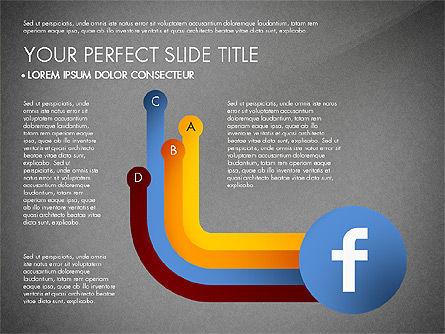 Facebook Data Driven Presentation, Slide 11, 03081, Presentation Templates — PoweredTemplate.com