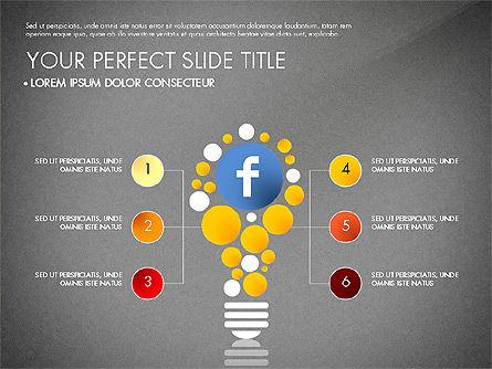 Facebook Data Driven Presentation, Slide 12, 03081, Presentation Templates — PoweredTemplate.com