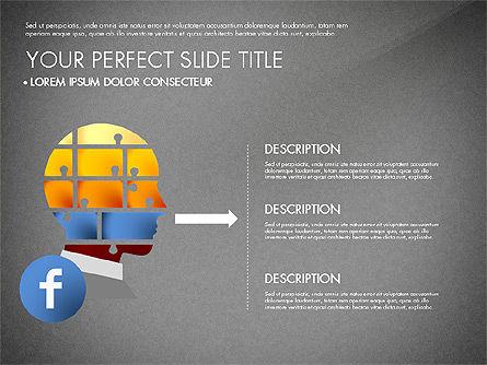 Facebook Data Driven Presentation, Slide 13, 03081, Presentation Templates — PoweredTemplate.com