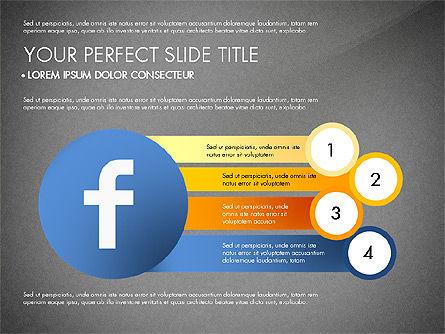 Facebook Data Driven Presentation, Slide 14, 03081, Presentation Templates — PoweredTemplate.com