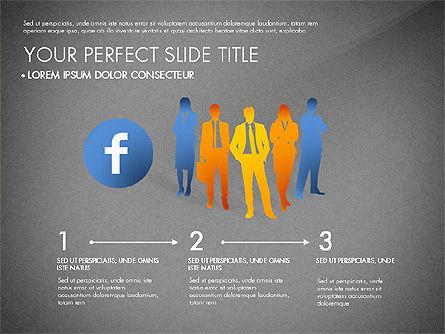 Facebook Data Driven Presentation, Slide 15, 03081, Presentation Templates — PoweredTemplate.com