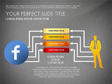 Facebook Data Driven Presentation, Slide 16, 03081, Presentation Templates — PoweredTemplate.com